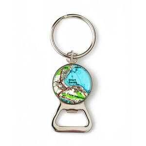 York Short Sands Combination Bottle Opener with Key Ring