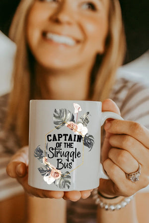 White Captain Of The Struggle Bus Mug