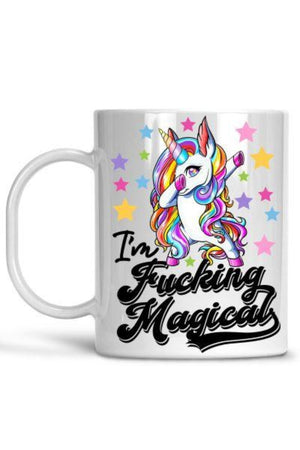 White I'm Fucking Magical Mug