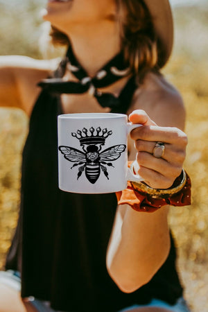 White Queen Bee Mug