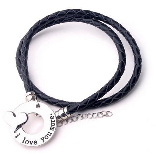 I Love You More - Hand Stamp Bracelet