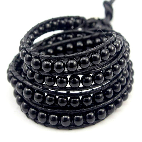 Black on Black Pearl Bracelet
