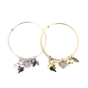 Key to Love Charm Bangle