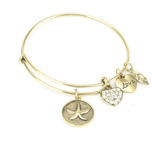 Lucky Star Charm Bangle