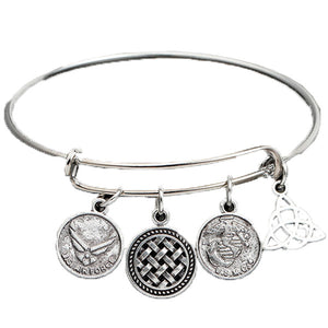 Air Force Enchanting Charm Bangle