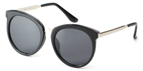 Women Retro Classic Mirrored Round Cat Eye Fashion Sunglasses with UV Protection