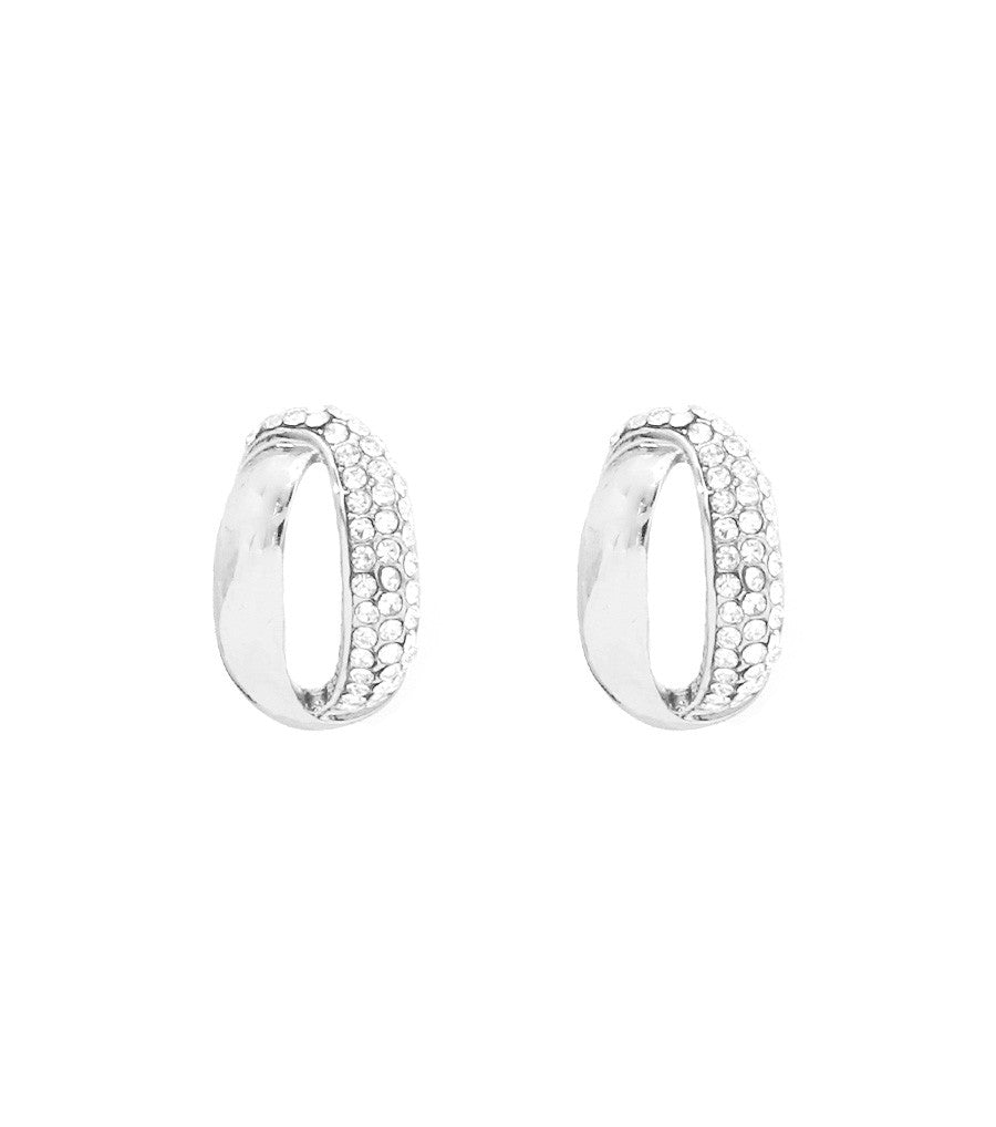 Curved Post Earrings Color-Clear