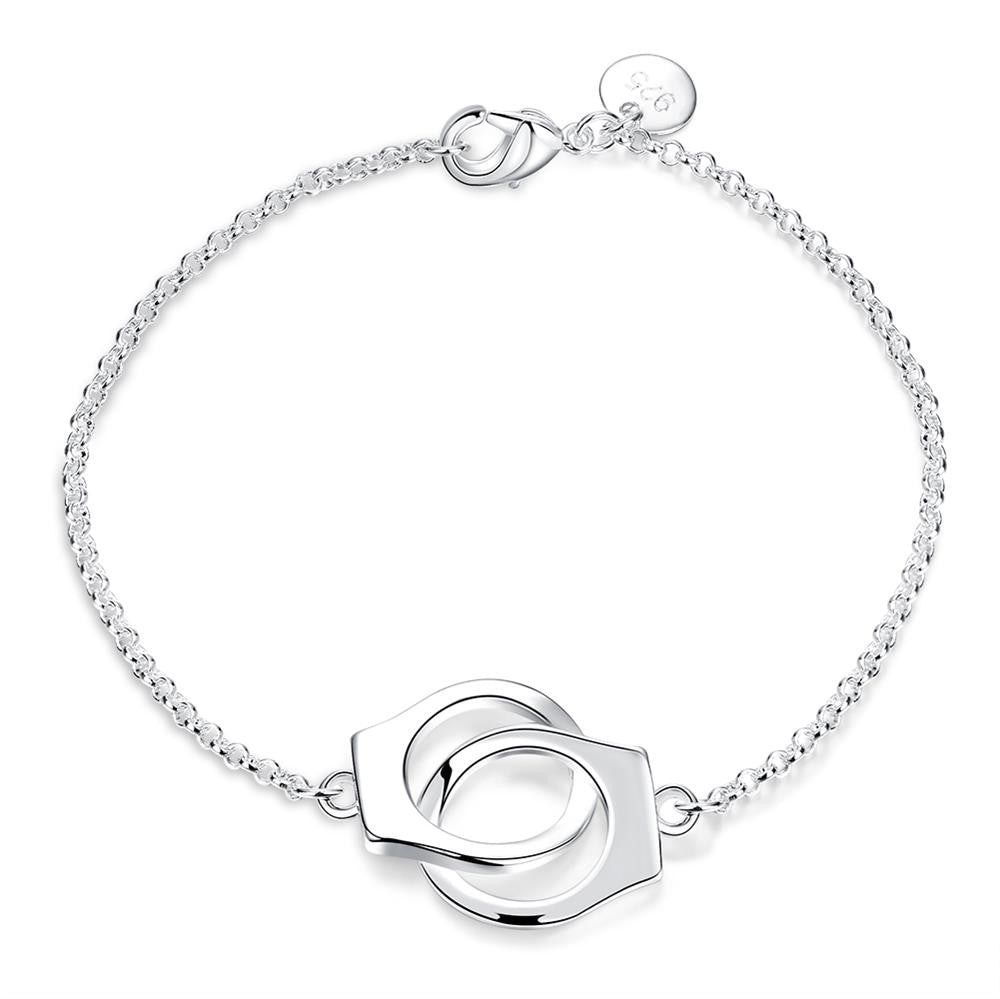 18K White Gold Handcuff Bracelet