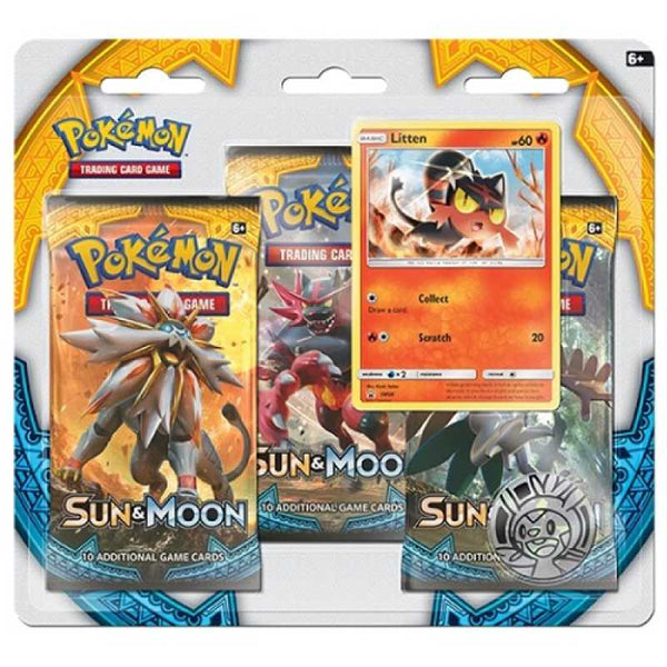 Pokemon Sun & Moon Triple Pack Booster (Litten) - Ou Neko