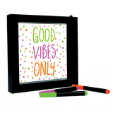 Neon Effect Writing Light Message Frame