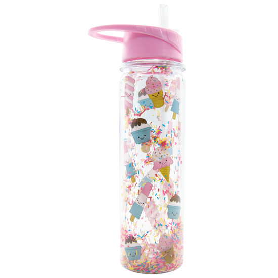Ice Cream Treats and Sprinkles Water Bottle
