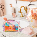 Holographic Jelly Makeup Bag 2Pc Set