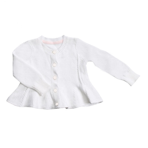 Angel Dear Seed Cardigan Sweater - White