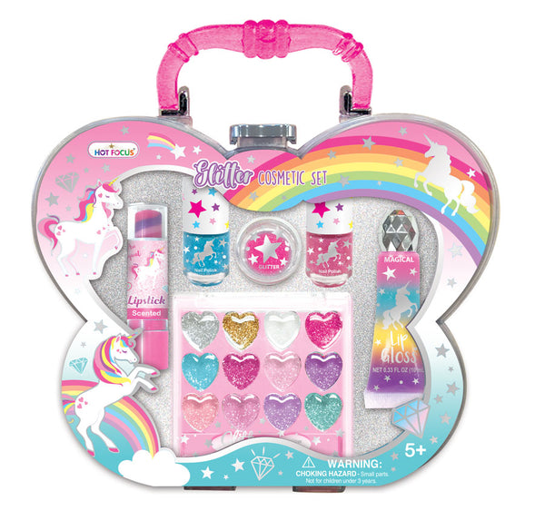 Unicorn Glitter Cosmetic Set in Acrylic Gift Box