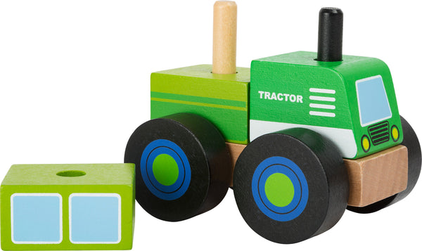 Smallfoot Legler Wooden Construction Vehicle Green Tractor