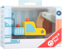 Smallfoot Legler Wooden Toy Car - Excavator
