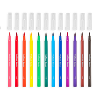 Ooly Brilliant Brush Markers Set 12Pc