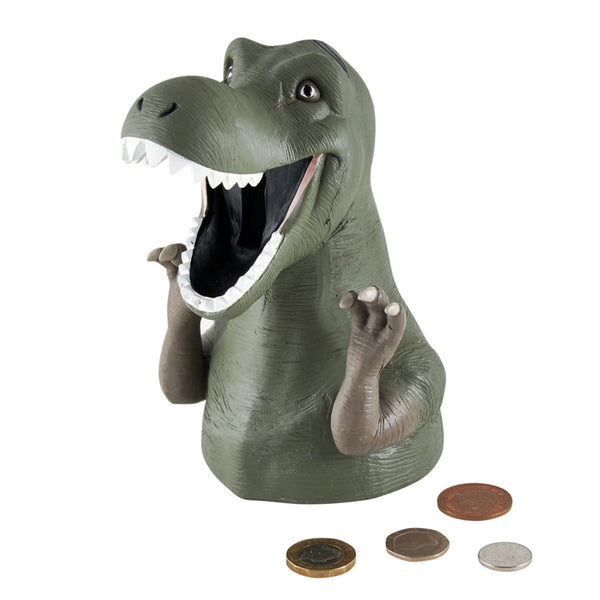 Resin T-Rex Dinosaur Money Box Bank