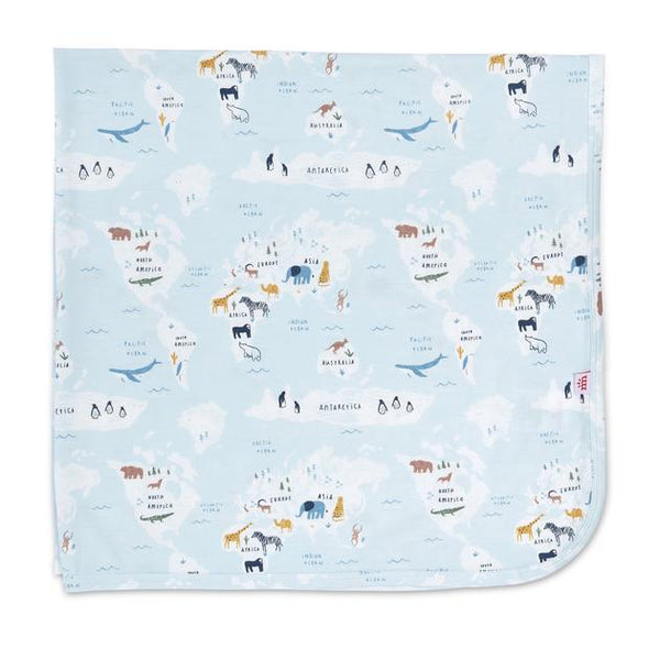 Magnetic Me Sea the World Modal Swaddle Blanket