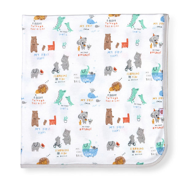 Magnetic Me My Year of Firsts Organic Cotton Swaddle Blanket