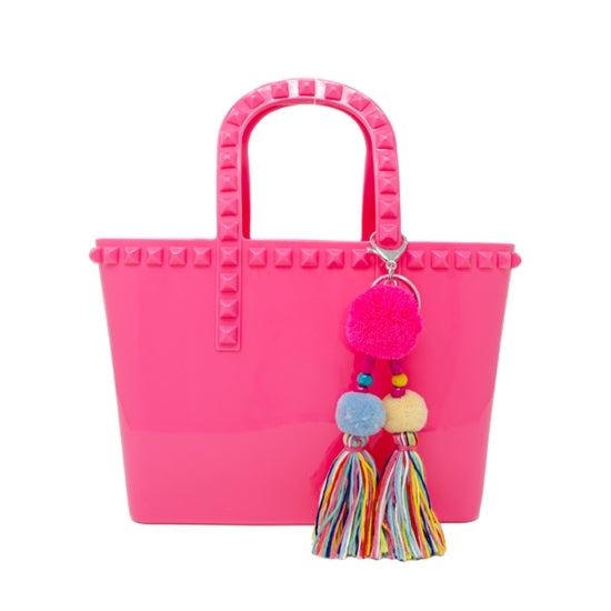 Tiny Treats Hot Pink Jelly Tote Bag