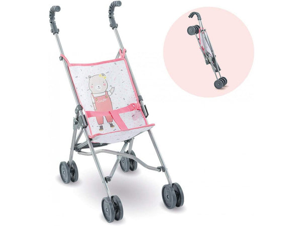 Doll Sized Pink Umbrella Stroller
