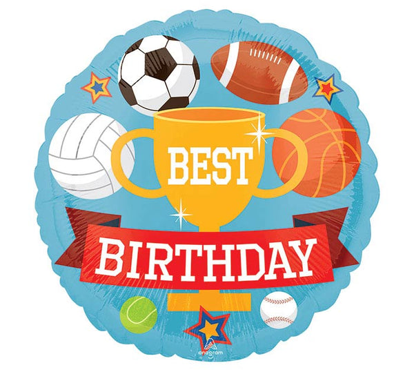"Sports Best Birthday 18"" Balloon"