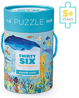 Crocodile Creek Thirty Six Ocean Animals Puzzle (100 Pieces)