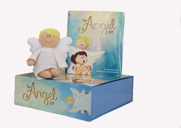 The Angel Gift Kit Book Plush Doll and Keepsake Box
