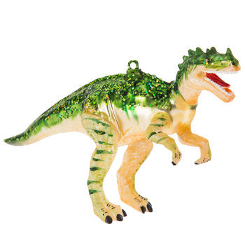 Green Glitter T-Rex Ornament