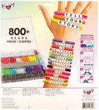 Tell Your Story Alphabet Bead Case 800+ Piece  Bracelet Making Kit