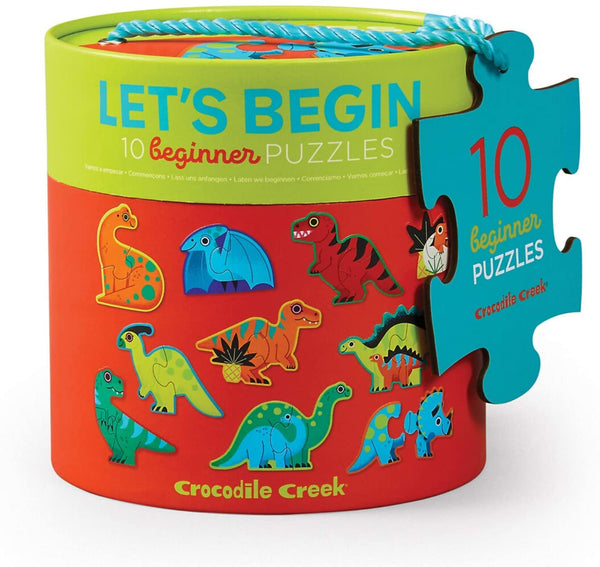 10-2Pc Let's Begin Dinosaurs Puzzle