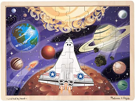 Melissa & Doug Space Voyage 48Pc Wooden Puzzle