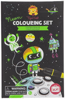 Outer Space Neon Coloring Set