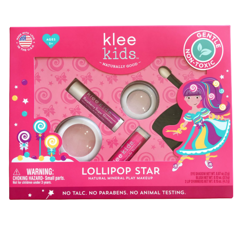 Natural Pressed Powder Mineral Play Makeup Set - Lollipop Star