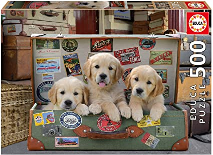 Educa Puppies in the Luggage Puzzle - 500Pc
