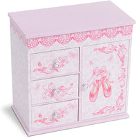 Ballerina 3 Drawer Musical Jewelry Box - Large
