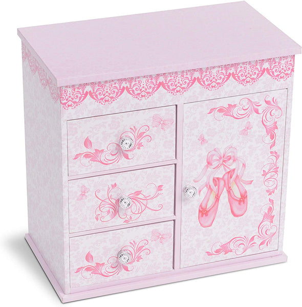 Ballerina Meghan 3 Drawer Musical Jewelry Box - Large