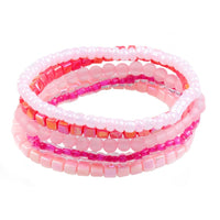 Great Pretenders Pink Shimmer Sparkle & Shine 5Pc Bracelet Set