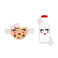 Acrylic Hair Clips - Milk & Cookies