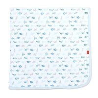 Magnetic Me Airplanes Organic Cotton Swaddle Blanket