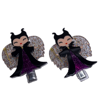 Acrylic Hair Clips - Maleficient