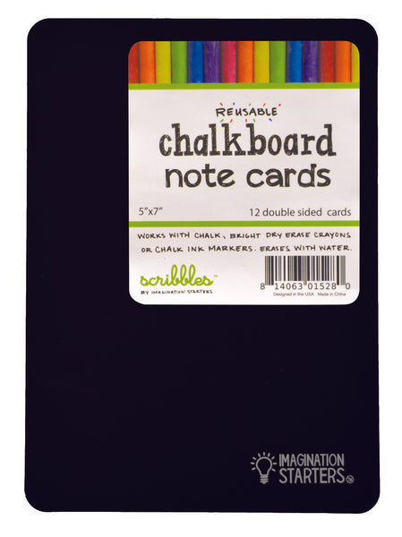 12Pk Reversible Chalkboard Note Cards/Flash Cards