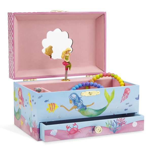 Lilly Mermaid Musical Jewelry Box w/ Drawer