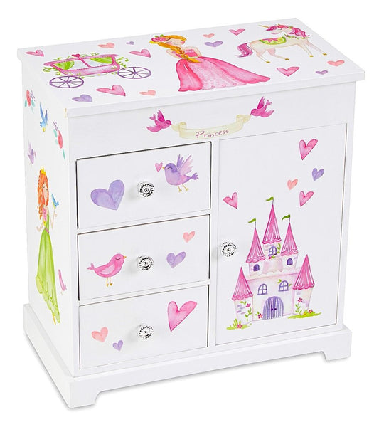 Princess Ashley 3 Drawer Musical Jewelry Box - Large