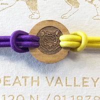 Colors for Good Purple/Gold Adjustable Tiger Bracelet
