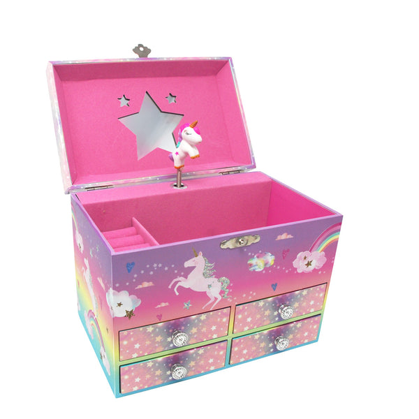 Cotton Candy Dreams 4 Drawer Musical Jewelry Box