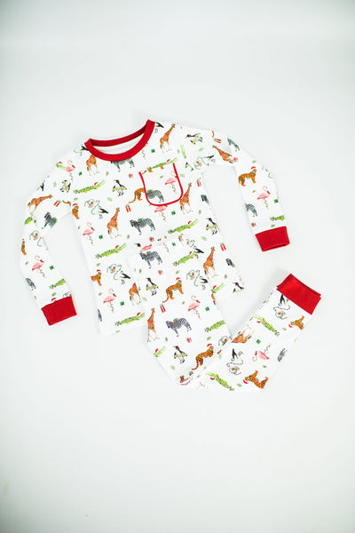 NolaTAWK Jungle All the Way Organic Cotton Pajama Set