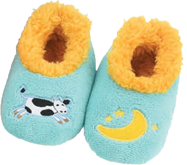 Snoozies Pairables Slippers - Cow/Moon
