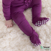 Magnetic Me Plum Solid Modal Footie